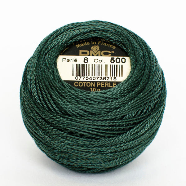 Perle No.8  500 Very Dark Blue Green