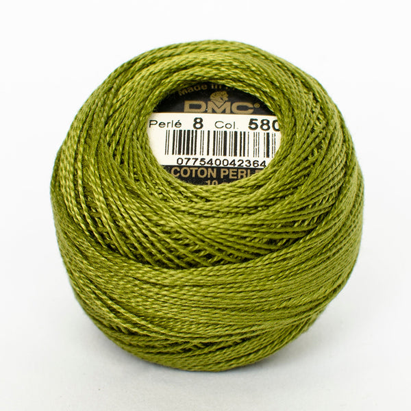 Perle No.8  580 Dark Moss Green