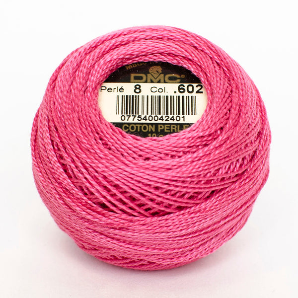 Perle No.8  602 Medium Cranberry