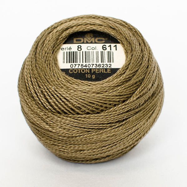 Perle No.8  611 Drab Brown