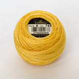 Perle No.8  743 Medium Yellow