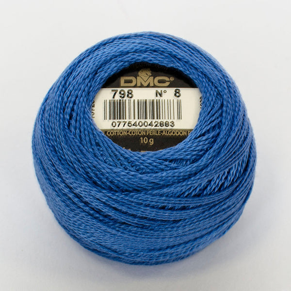 Perle No.8  798 Dark Delft Blue