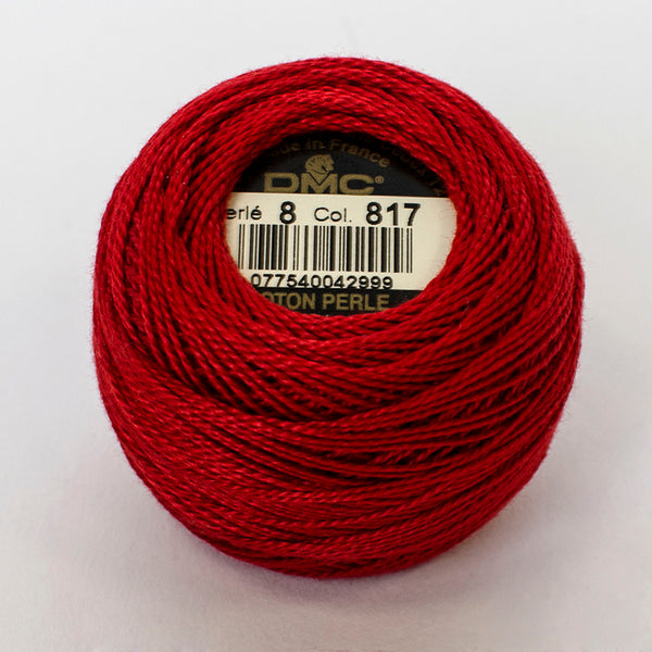 Perle No.8  817 Very Dark Coral Red