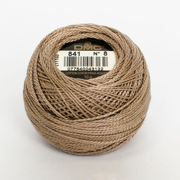 Perle No.8  841 Light Beige Brown