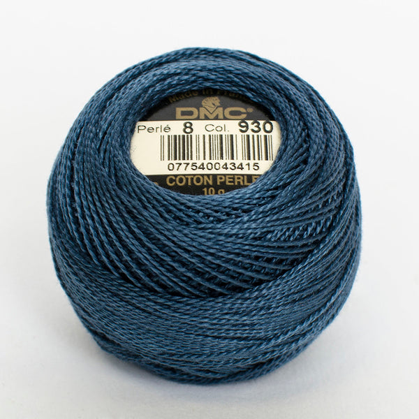 Perle No.8  930 Dark Antique Blue