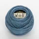 Perle No.8  931 Medium Antique Blue