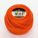 Perle No.8  946 Medium Burnt Orange