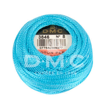 Perle No.8  3846 Light Bright Turquoise