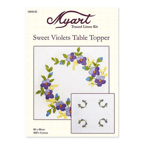 Sweet Violets Table Topper 14010.02