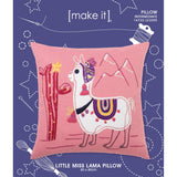 14732-LE3095 LITTLE MISS LAMA PILLOW