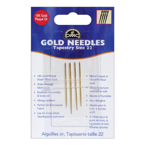 1791L.1 - 4PK Gold Eye Needle 22