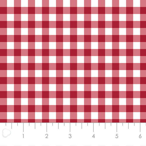 MIXOLOGY  21007-0096  Gingham-Crimson