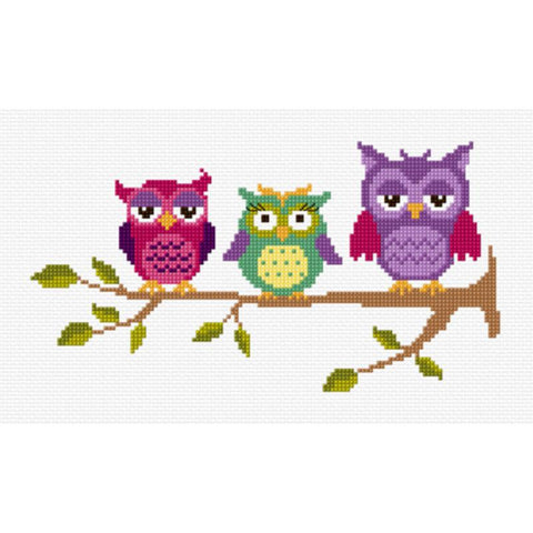 Three Perched Owls 577115