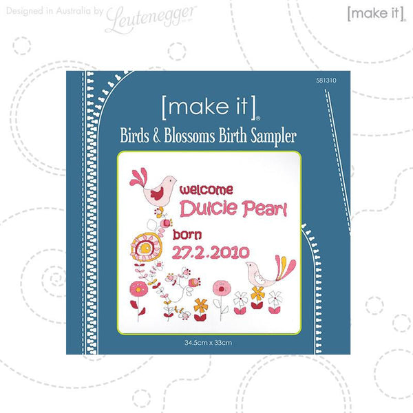 Bird Blossom Birth Sampler 581310