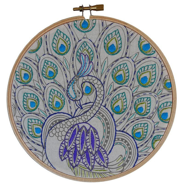 Colour Me Embroidery - Peacock Art 585289