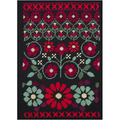 BK1784 Geometric Flowers - Red