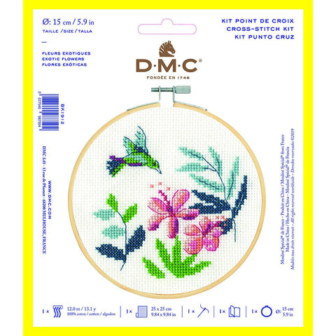 BK1912L Exotic Flowers Counted Cross Kit