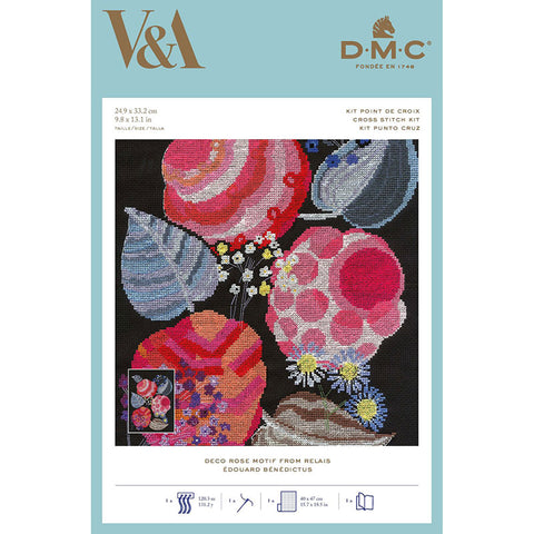 BL1195/77  Deco Rose Motif