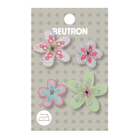 Motif Sparkly Flowers Minimum 5