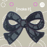 Mi Motif Black Lace Bow M5