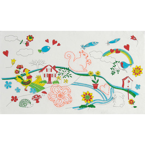 BT018K Countryside Colouring and Stitching Kit