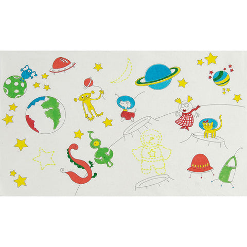 BT019K On the Moon Colouring and Stitching Kit