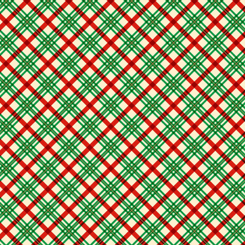 VINTAGE HOLIDAYS HOLIDAY PLAID CM9636-GREEN