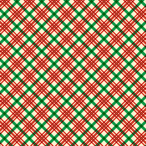 VINTAGE HOLIDAYS HOLIDAY PLAID CM9636-RED