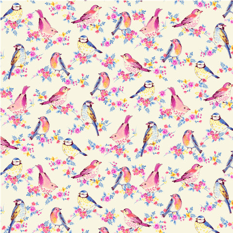 BIRD SONG-FLOCK TOGETHER CX10109-CREAM