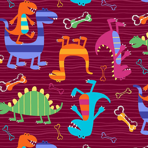 DINO WORLD - DINO DUDES - CX4430-BURGUNDY