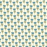 CRITTER TAILS - CX8363 - TULIP TRAIL -TEAL
