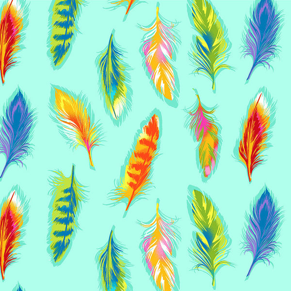 BOHO BOUTIQUE - CX8591 - BOHO FEATHERS - AQUA