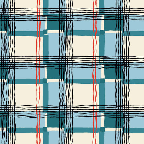 KITSCHY COCKTAILS - MAD ABOUT PLAID CX8715-BLUE