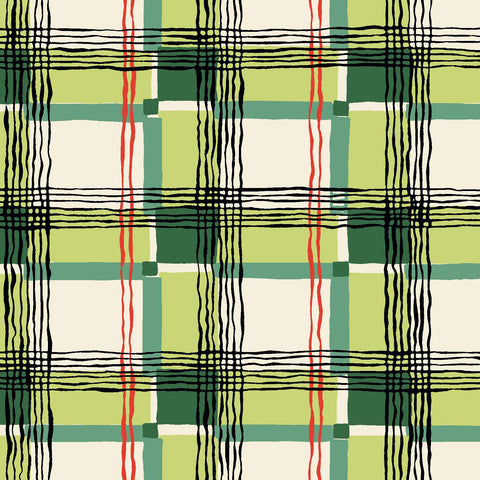 KITSCHY COCKTAILS - MAD ABOUT PLAID CX8715-GREEN