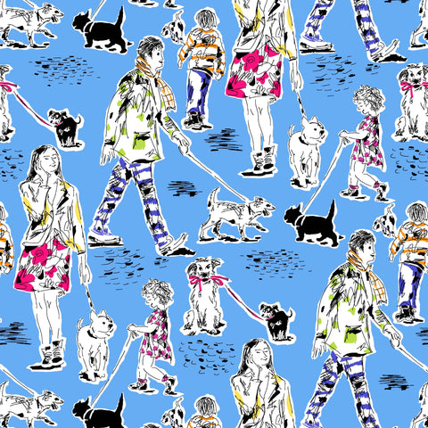 DOG SHOW-OUT FOR A WALK CX8828-BLUE