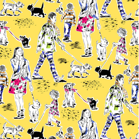 DOG SHOW-OUT FOR A WALK CX8828-YELLOW