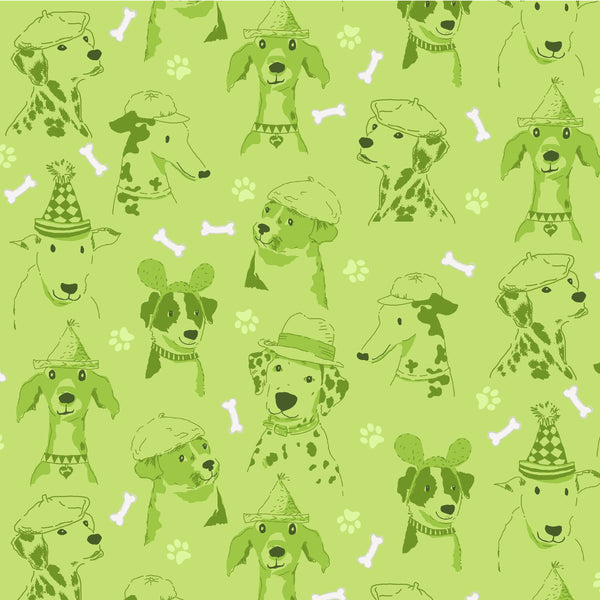 DOG SHOW- CANINE EXPRESSIONS CX8832-GREEN