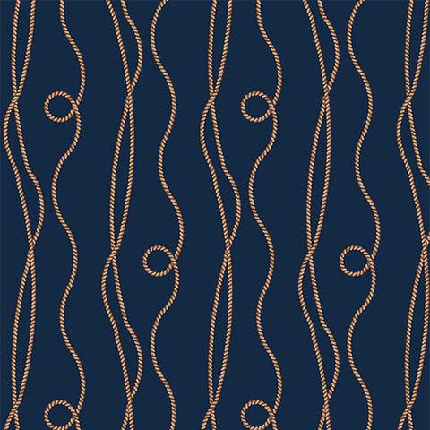 BY THE SEA - NAUTICAL ROPE - CX9110-NAVY