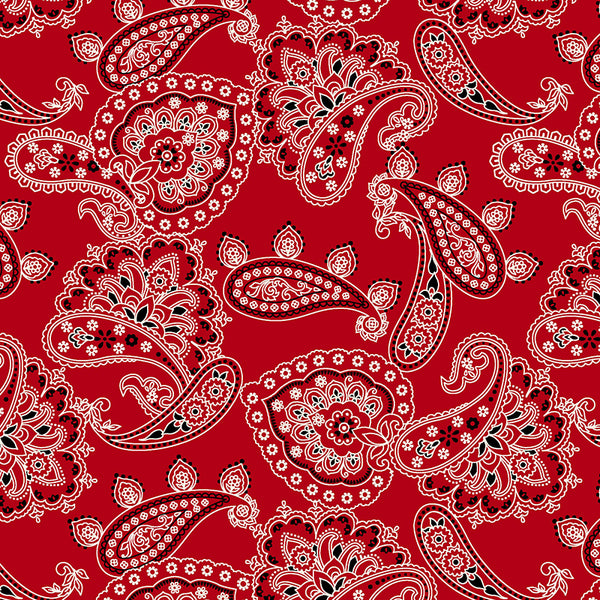 BANDANA BALLAD - BANDANA ALLOVER - CX9125-RED