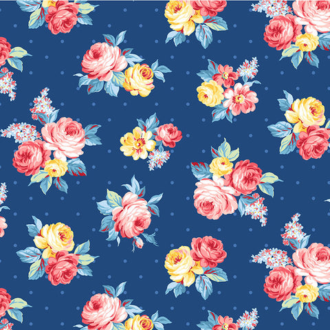 COUNTRY COTTAGE  - LOCAL BLOOMS  - CX9226-BLUE