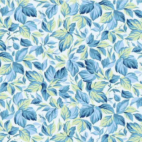 COUNTRY COTTAGE  - LOTSA LEAVES  - CX9227-BLUE