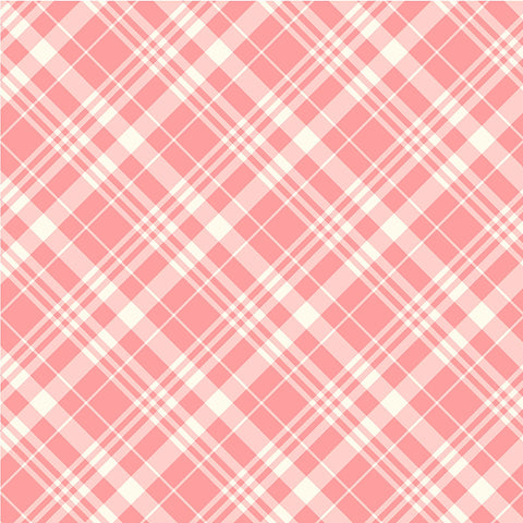 COUNTRY COTTAGE  - PORCH PLAID - CX9231-PEACH
