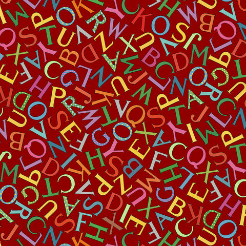 VINTAGE TREASURES - PLAYFUL LETTERS CX9453 RED