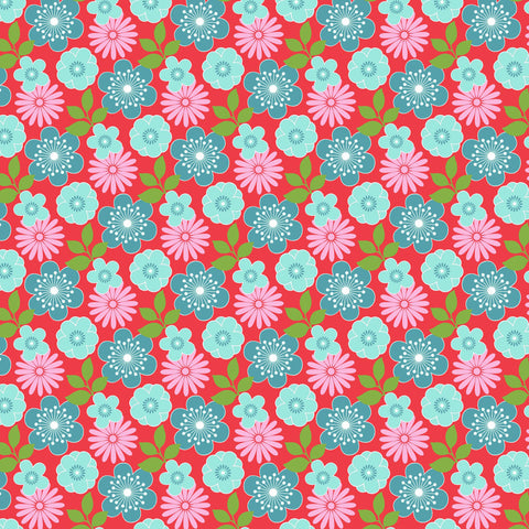 GEISHA GIRL-WASHI FLORAL CX9468-CHERRY