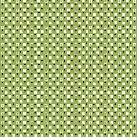 PLAYDATE WITH FRIENDS-FANCY SQUARES CX9498-GREEN
