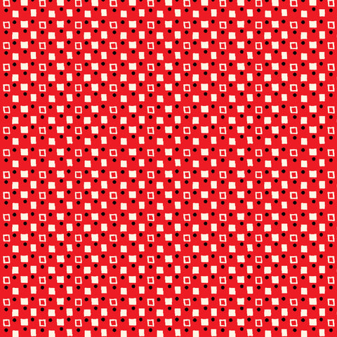 PLAYDATE WITH FRIENDS-FANCY SQUARES CX9498-RED