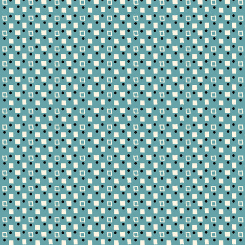 PLAYDATE WITH FRIENDS-FANCY SQUARES CX9498-BLUE