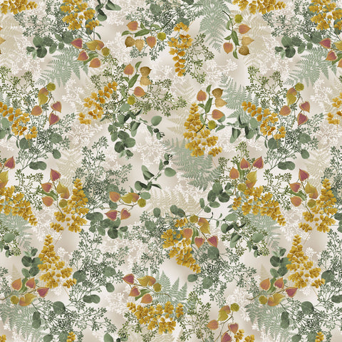 MAGNOLIA-LAYERED FERNS CX9520-CREAM