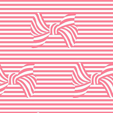 AT THE SEASHORE - BOWS AND STRIPES - DC8414-CORAL