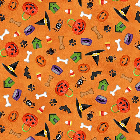 HOWL-O-WEEN - PAW-TY-TIME - DC8939-ORANGE